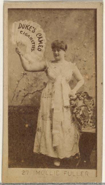 Card Number 27, Mollie Fuller, from the Actors and Actresses series (N145-4) issued by Duke Sons & Co. to promote Cameo Cigarettes