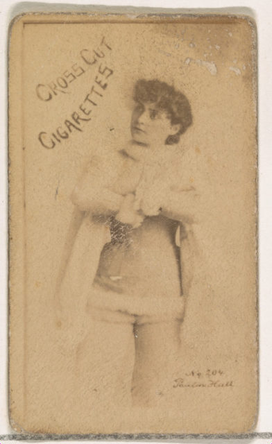 Card Number 304, Pauline Hall, from the Actors and Actresses series (N145-1) issued by Duke Sons & Co. to promote Cross Cut Cigarettes