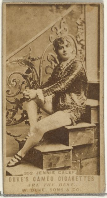 Card Number 352, Jennie Calef, from the Actors and Actresses series (N145-5) issued by Duke Sons & Co. to promote Cameo Cigarettes