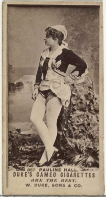 Card Number 357, Pauline Hall, from the Actors and Actresses series (N145-5) issued by Duke Sons & Co. to promote Cameo Cigarettes