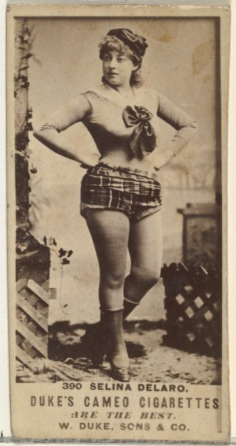 Card Number 390, Selina Delaro, from the Actors and Actresses series (N145-5) issued by Duke Sons & Co. to promote Cameo Cigarettes