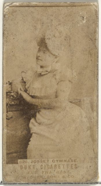 Card Number 520, Josset Gymnase, from the Actors and Actresses series (N145-7) issued by Duke Sons & Co. to promote Duke Cigarettes