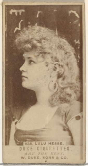 Card Number 538, Lulu Hesse, from the Actors and Actresses series (N145-7) issued by Duke Sons & Co. to promote Duke Cigarettes