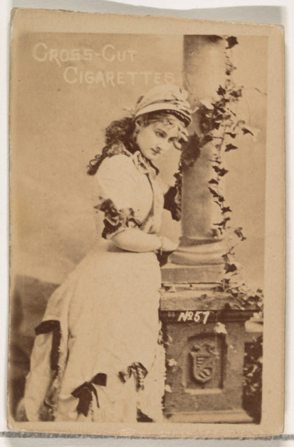 Card Number 57, from the Actors and Actresses series (N145-1) issued by Duke Sons & Co. to promote Cross Cut Cigarettes