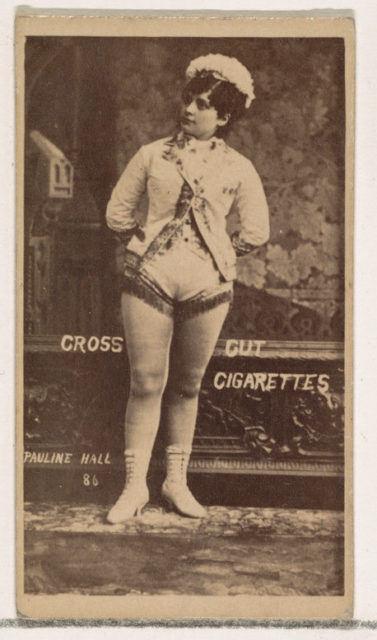 Card Number 86, Pauline Hall, from the Actors and Actresses series (N145-1) issued by Duke Sons & Co. to promote Cross Cut Cigarettes
