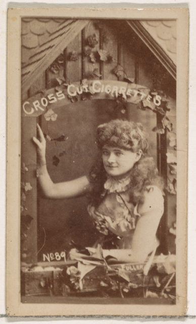 Card Number 89, Fuller, from the Actors and Actresses series (N145-1) issued by Duke Sons & Co. to promote Cross Cut Cigarettes