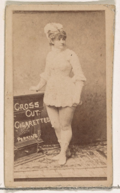 Carrie Perkins, from the Actors and Actresses series (N145-1) issued by Duke Sons & Co. to promote Cross Cut Cigarettes