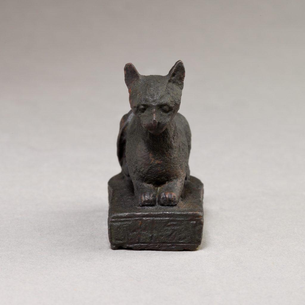 Cat on base inscribed for Bastet and an offerer