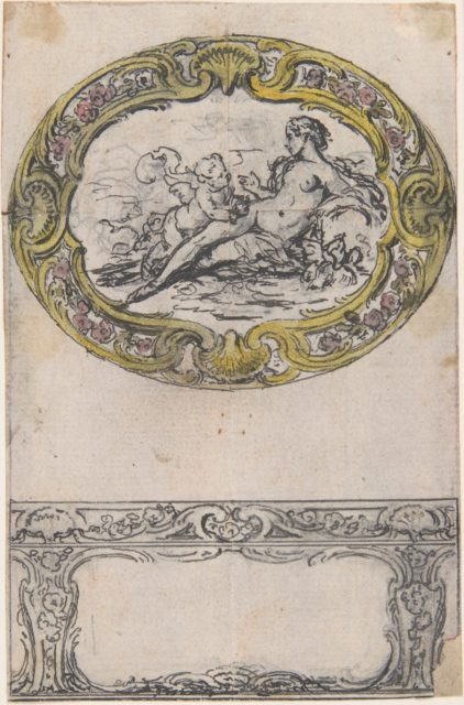 Design for an Oval Gold Box