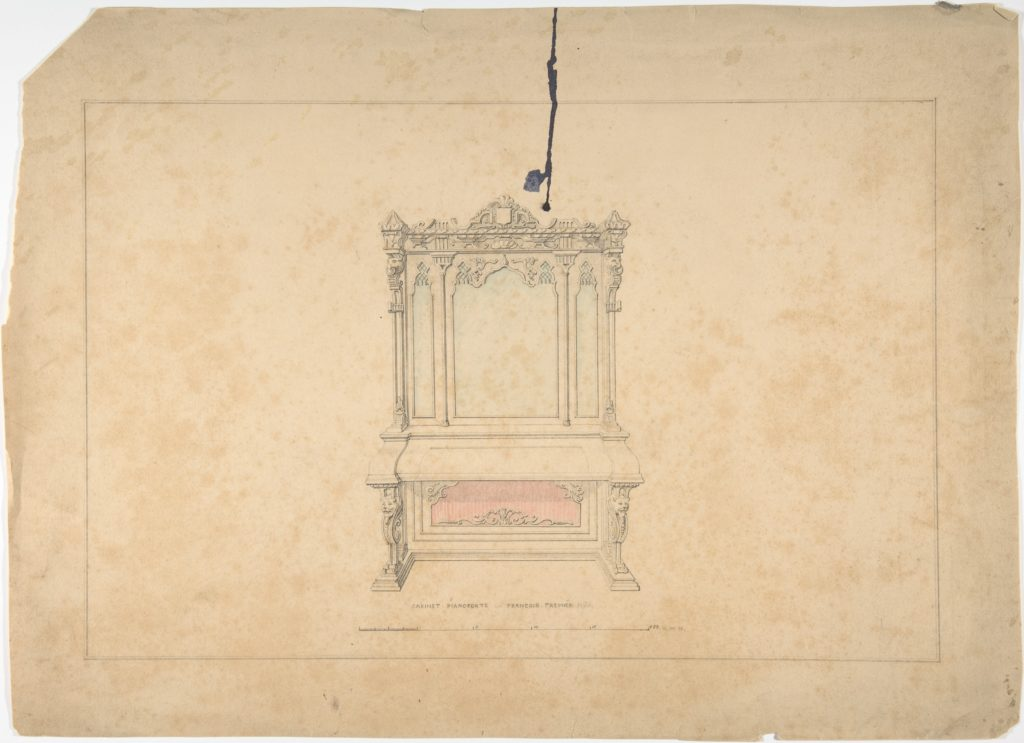 Design for Cabinet Pianoforte, François Premier Style