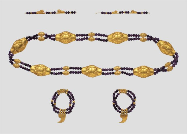 Feline-Headed Girdle, Anklets, and Bracelets of Princess Sithathoryunet
