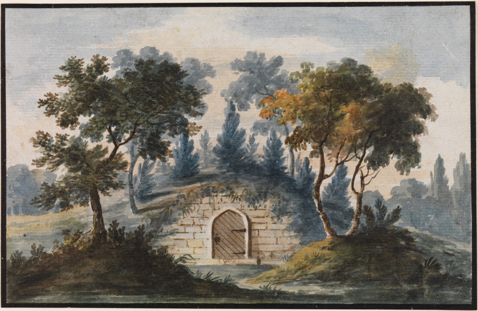General Washington's Tomb at Mount Vernon (Copy after Engraving in The Port Folio Magazine, 1810)