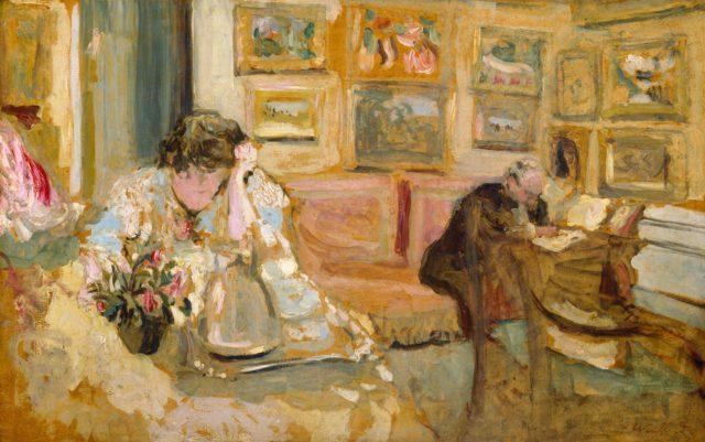 Jos and Lucie Hessel in the Small Salon, Rue de Rivoli