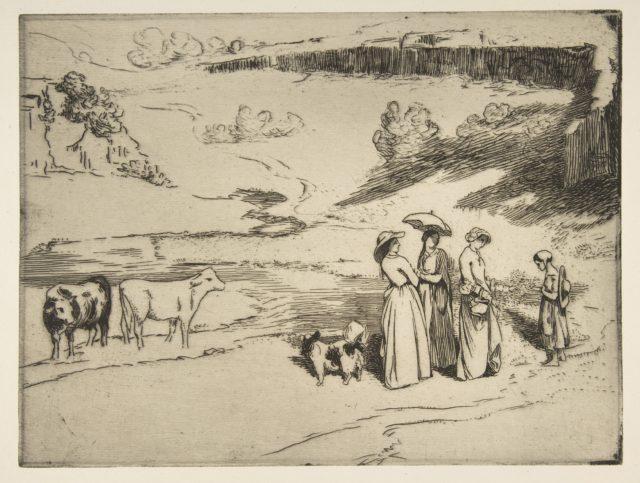 Les Demoiselles de village, after Courbet