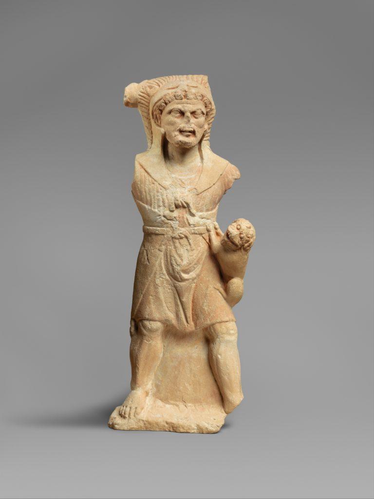 Limestone statue of Herakles