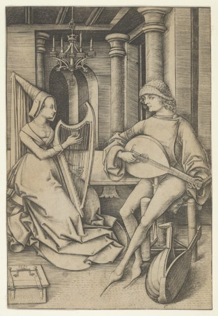 Lute Player and Harpist, from Scenes of Daily Life