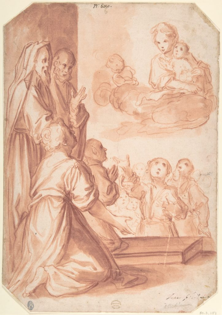 Madonna and Child and Worshippers