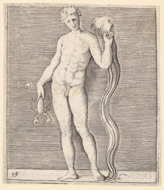 Man with Crayfish and Urn of Water