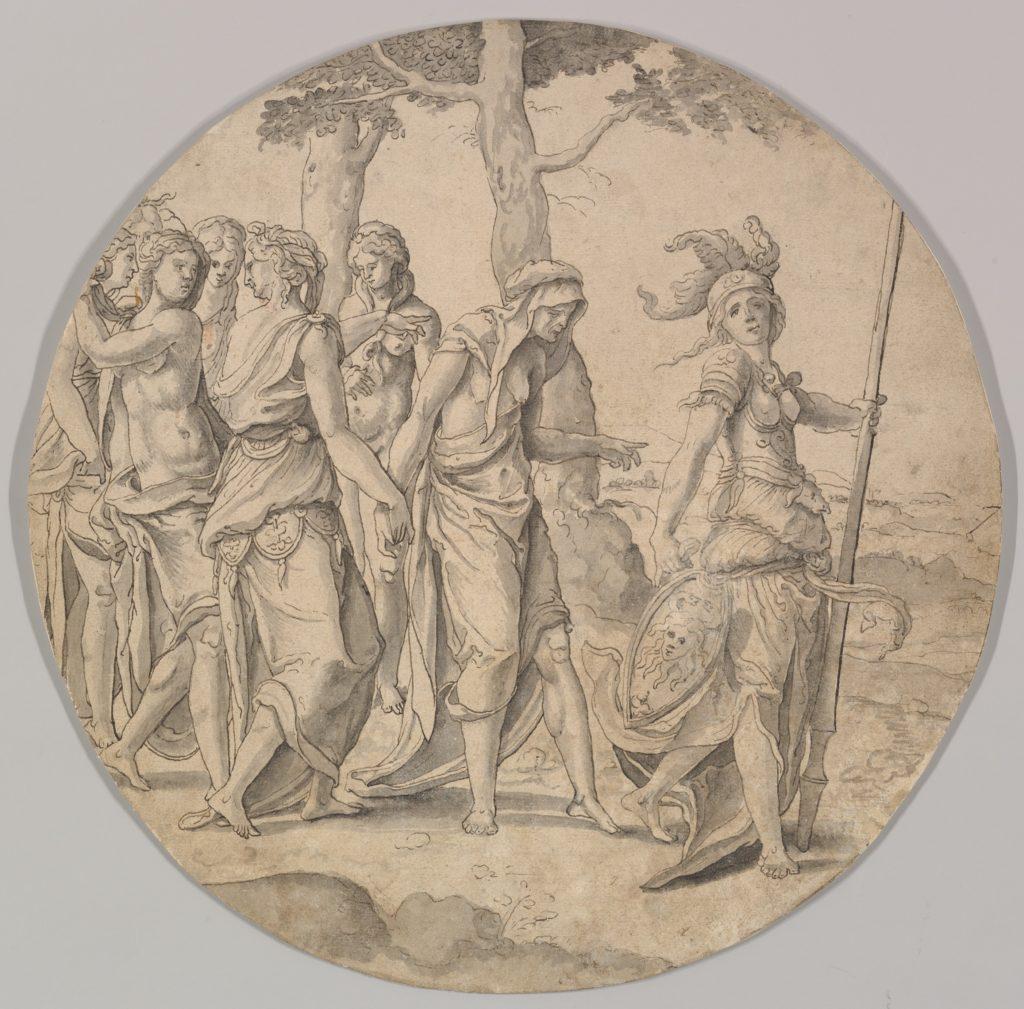 Minerva Leading a Procession of Women