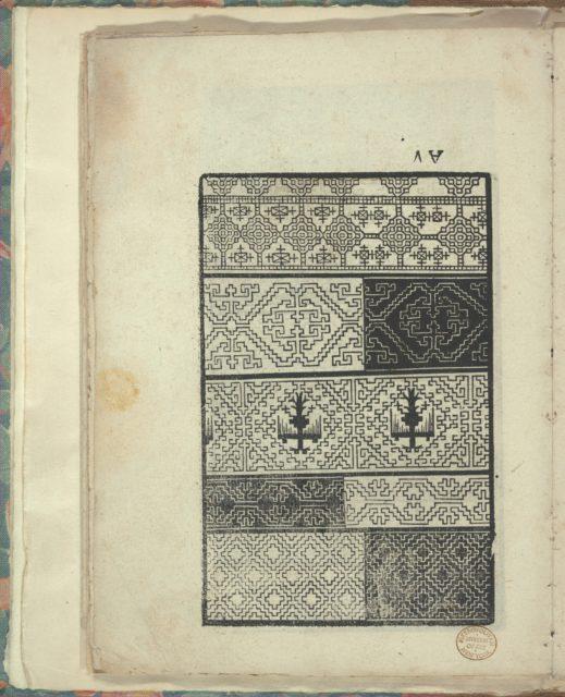 Opera Nova Universali intitulata Corona di racammi, page 17 (verso)