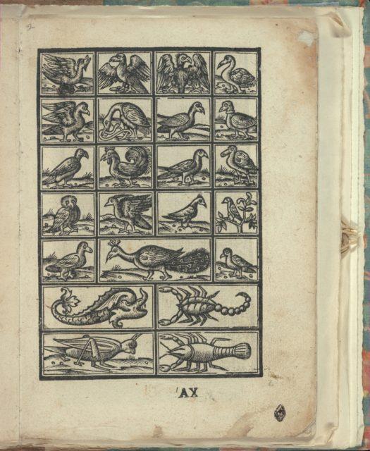 Opera Nova Universali intitulata Corona di racammi, page 21 (recto)