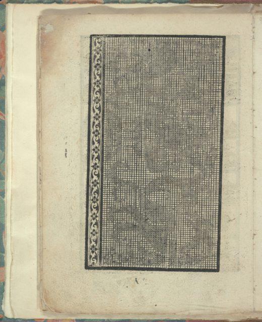 Opera Nova Universali intitulata Corona di racammi, page 21 (verso)