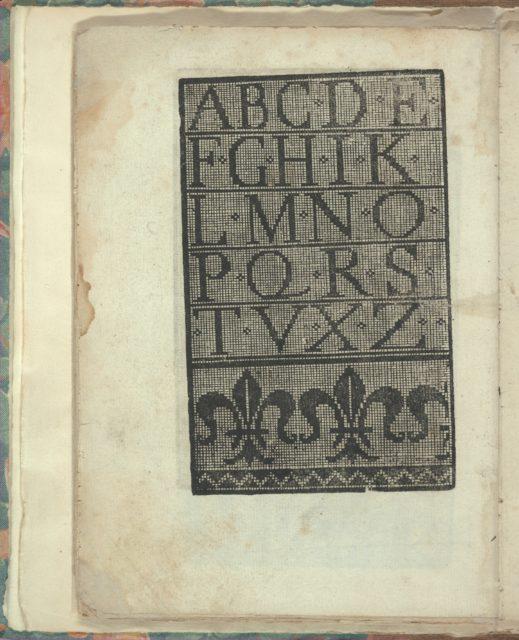 Opera Nova Universali intitulata Corona di racammi, page 25 (verso)