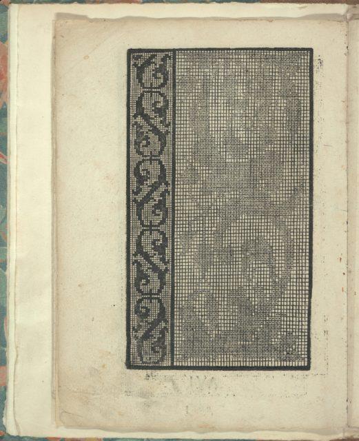 Opera Nova Universali intitulata Corona di racammi, page 6 (verso)