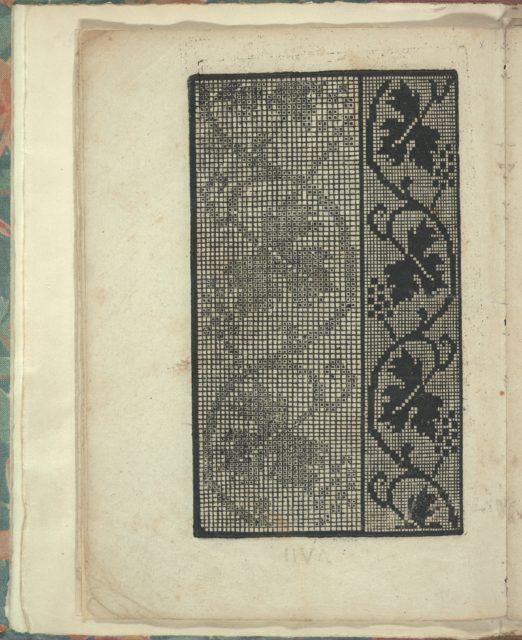 Opera Nova Universali intitulata Corona di racammi, page 7 (verso)