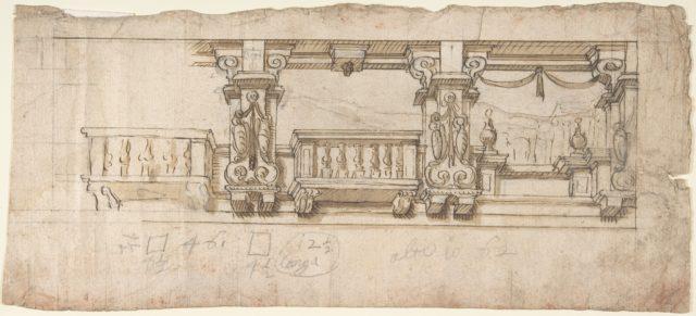 Ornamental Design for a Loggia or Frieze (?)
