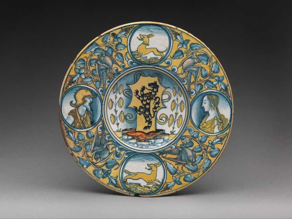 Plate with arms of the Tosinghi family
