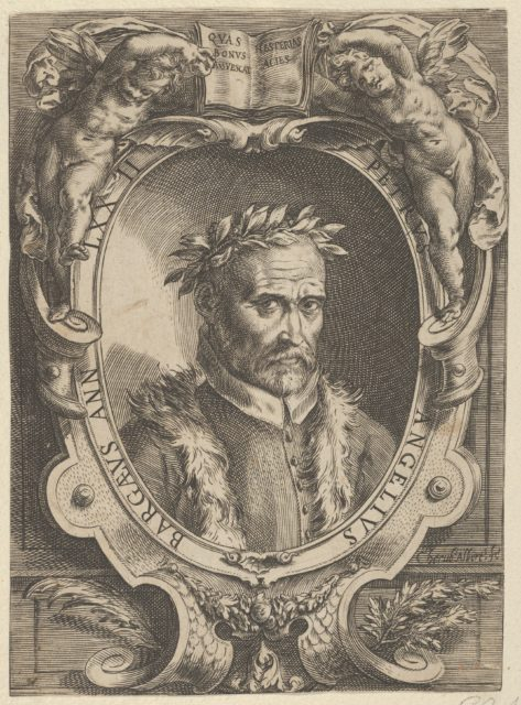 Portrait of Pietro Angela da Barga, bust-length and in a decorative border