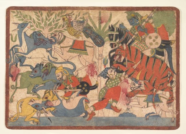 """Royal Hunt,"" folio from a Mahabharata"