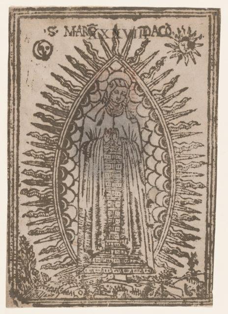 Saint Margaret of Cortona surrounded by rays of light