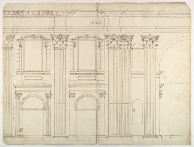Saint Peter's, apse, exterior elevation (recto) blank (verso)