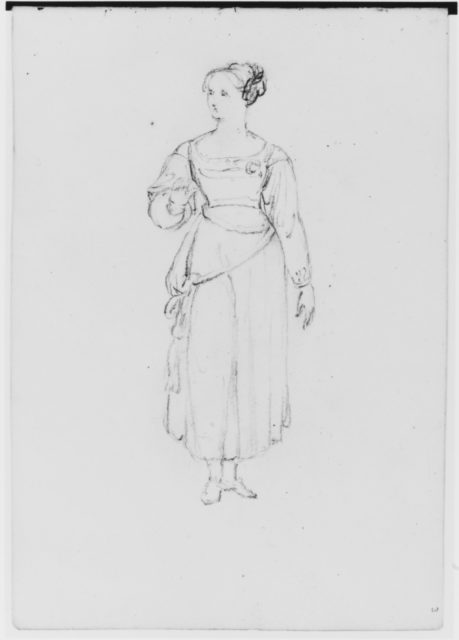 Single Female Figure (from Sketchbook)