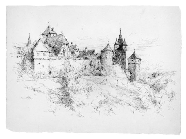 Sketch of Houses (Probably in Germany)