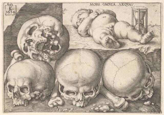 Sleeping Child with Four Skulls (reverse copy)