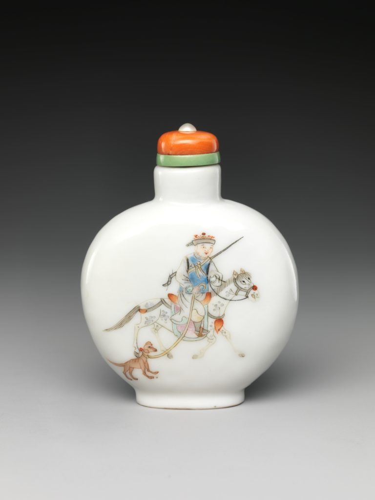 Snuff Bottle with Horse Rider