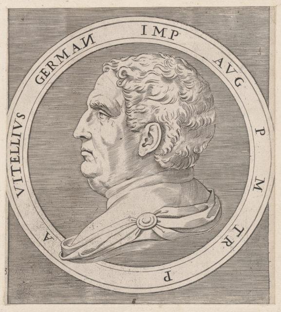 Speculum Romanae Magnificentiae: Vitellius, from The Twelve Caesars