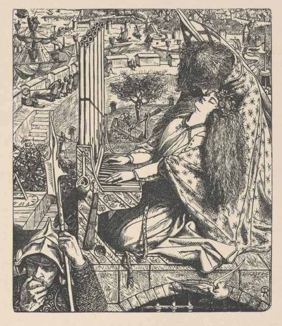 St. Cecily / Cecilia (Illustration for The Palace of Art in Tennyson's Poems, New York, 1903)