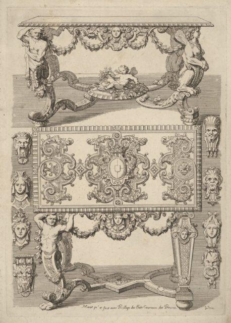 Table Designs, from 'Nouveaux Liure d'Orfevrerie'