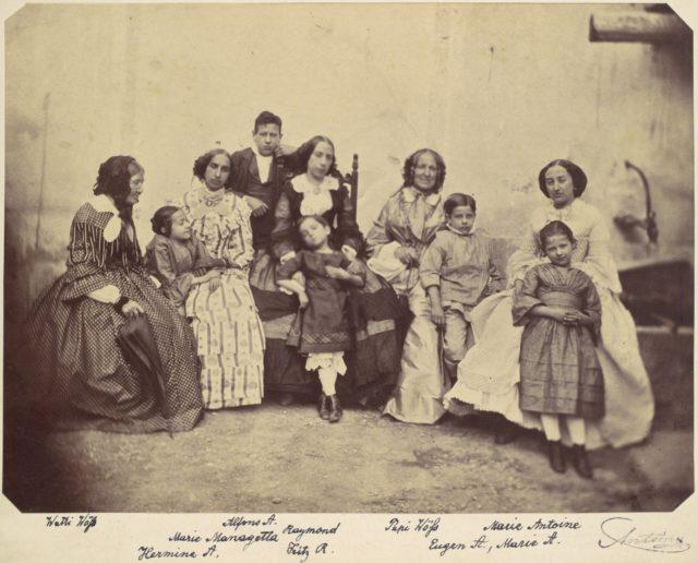 [Ten members of the Antoine family]