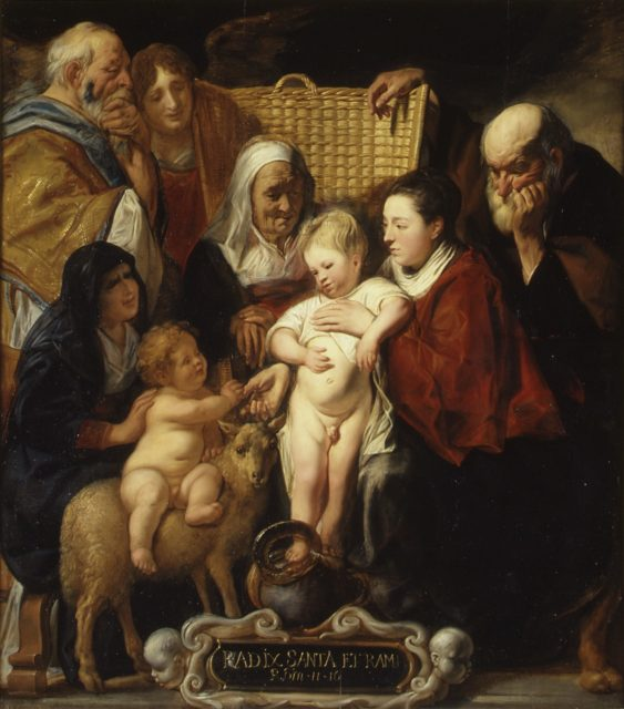 The Holy Family with Saint Anne and the Young Baptist and His Parents