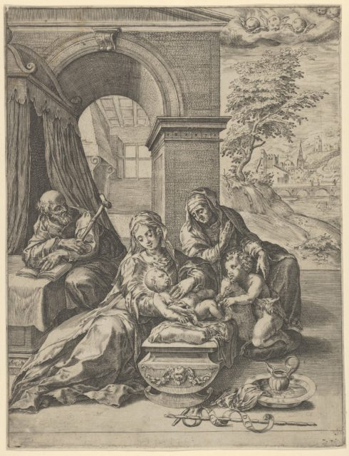 The Holy Family with Saint Anne and the young Saint John the Baptist