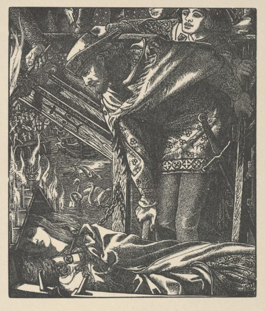 The Lady of Shalott (from Tennyson's Poems, New York, 1903)