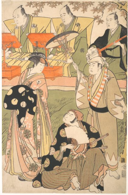 Theatrical Scene, with Musicians