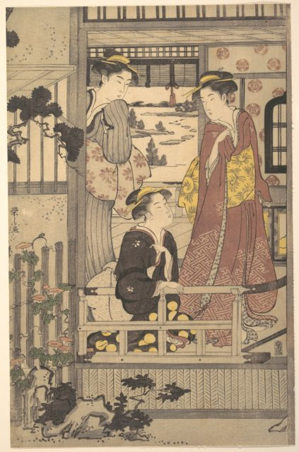 Three Women on a Veranda
