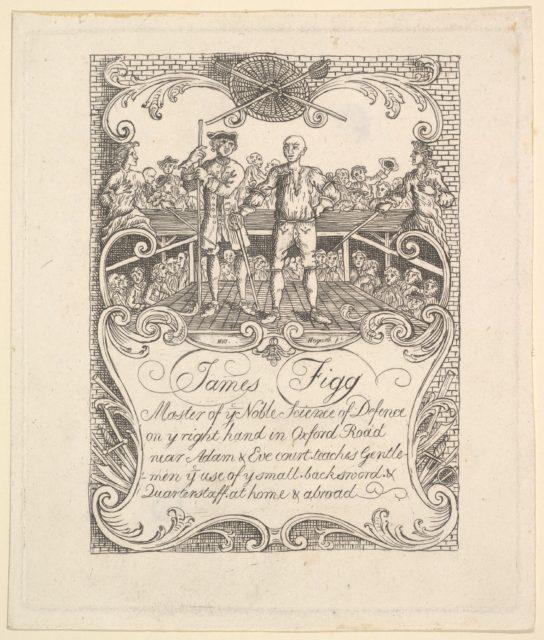 Trade card for James Figg