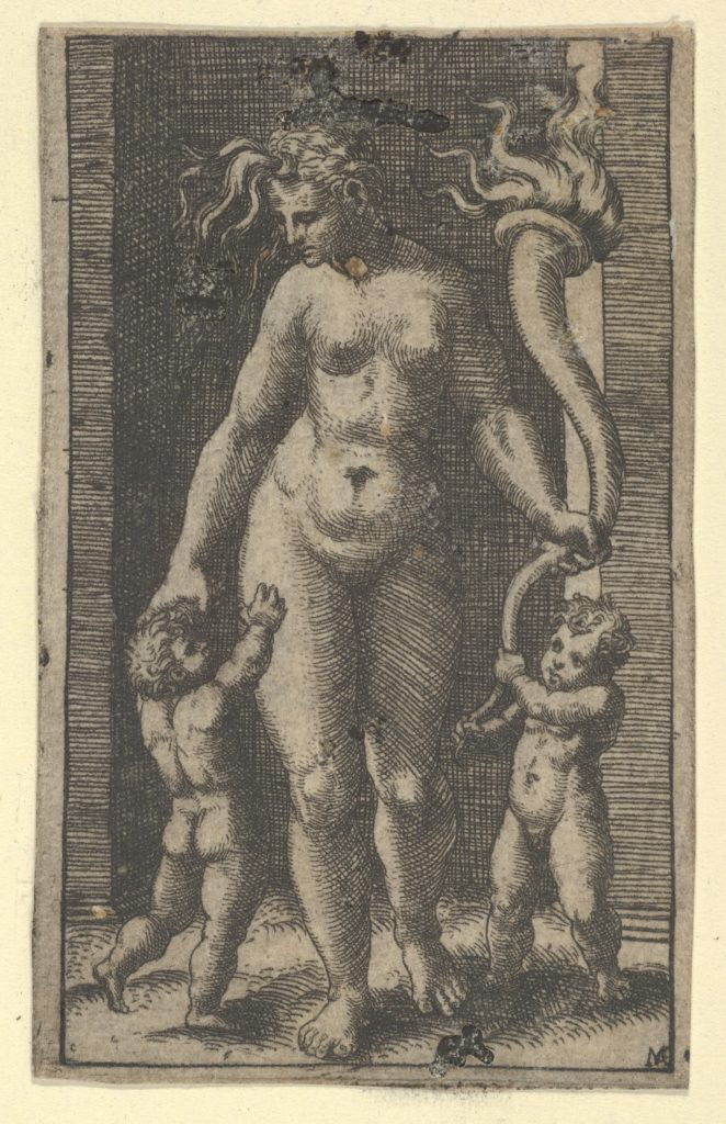 Venus attended by cupids